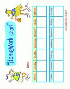 Free printable homework reward charts